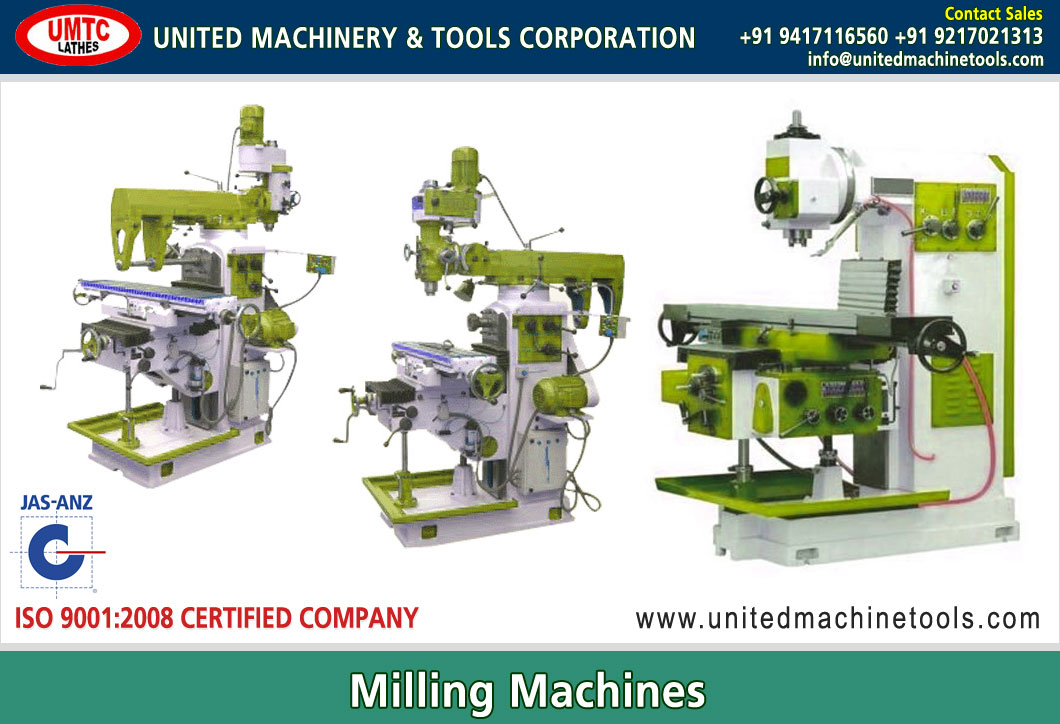 Milling Machines Manufacturers Exporters in India Punjab Ludhiana