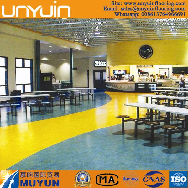 High Wear Resistance Shopping Mall PVC Vinyl Flooring