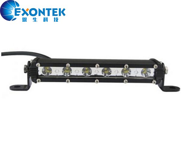 4x4 Single Row Super Ultra Slim work light bar headlight CREES 18W 4WD LED headlamp DRL driving for