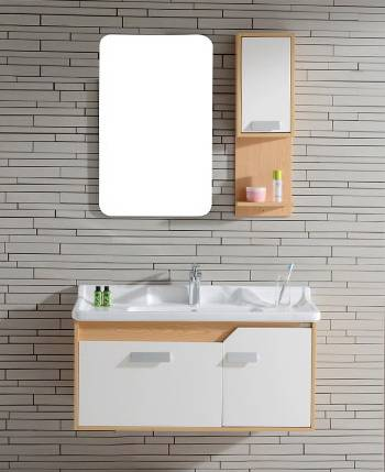 S-1509 Modern Oak wood Bathroom Cabinet