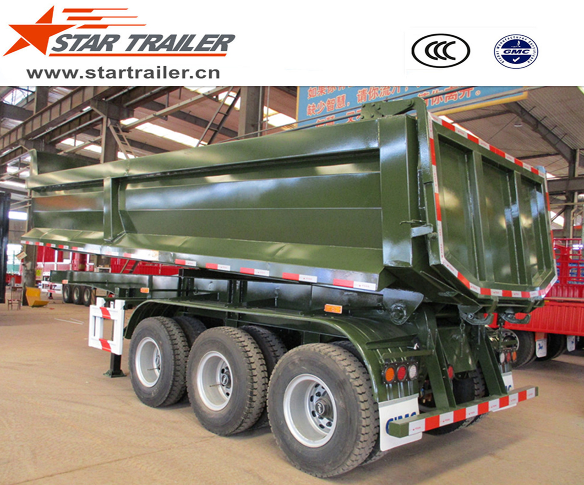 3 Axles U type Dumping Trailer