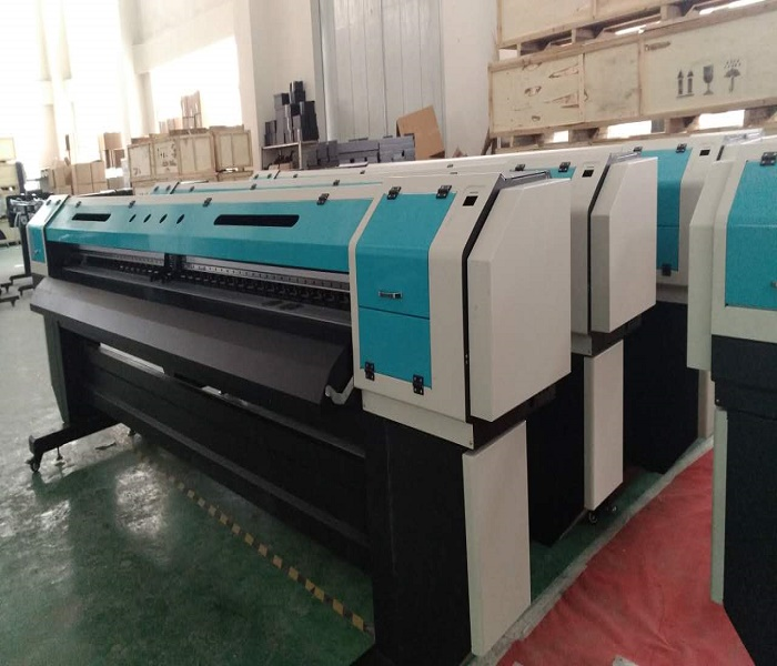 Double or 4 print heads Large format solvent printer machine