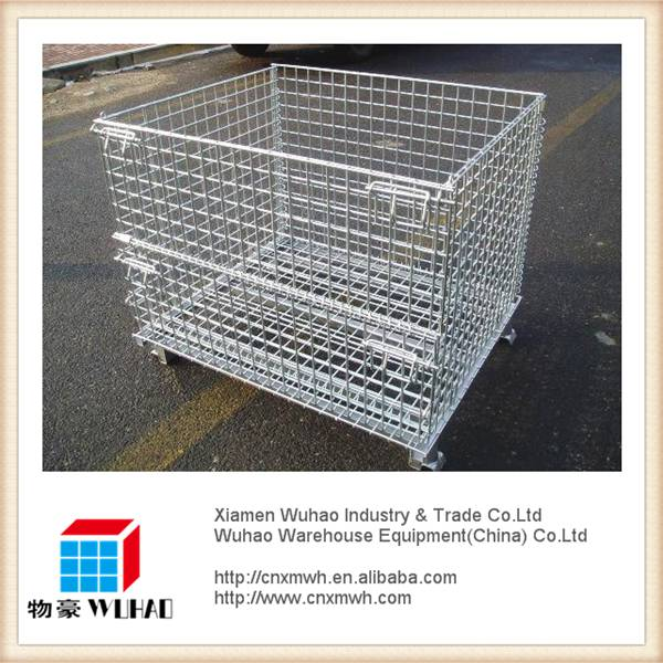 steel plate storage wire mesh container