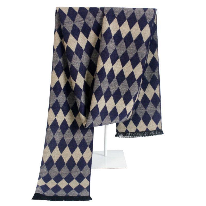 Super Soft Winter Striped Plaid Men Scarf Wrap Wholesale