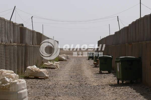 razor wire defensive barrier