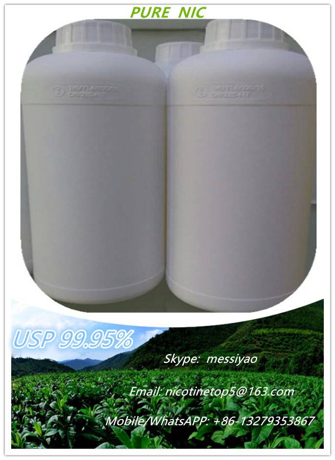 We hot sell USP Grade 1000mg/ml nicotine used for for E-liquid,