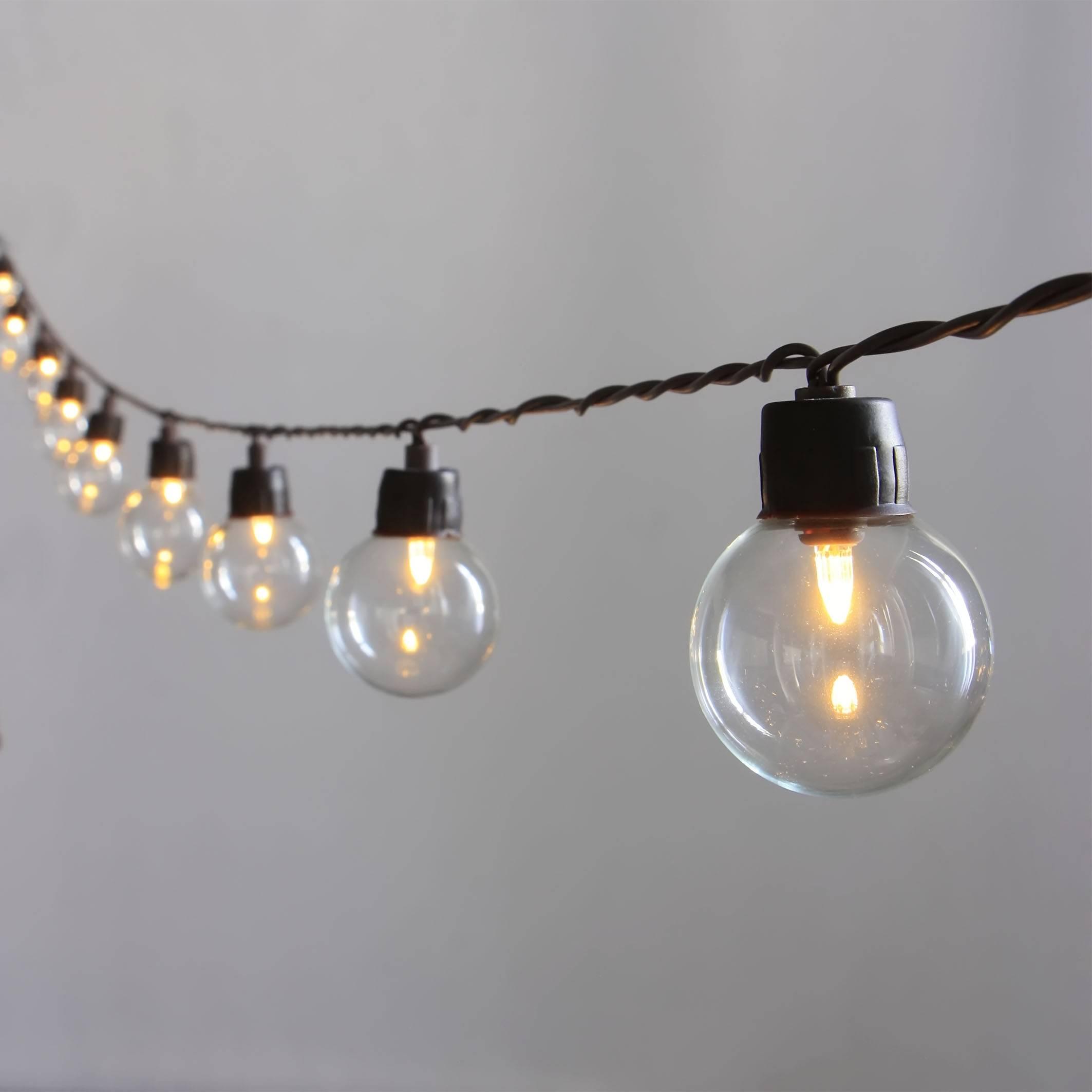 Solar Powered G40 LED String Light KF41040-SO