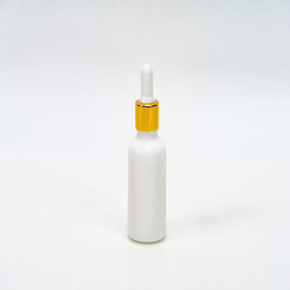 opal/white glass bottle for essence,essential oil