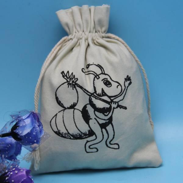 New Design Custom Drawstrintg Small Cotton Jewelry Bag