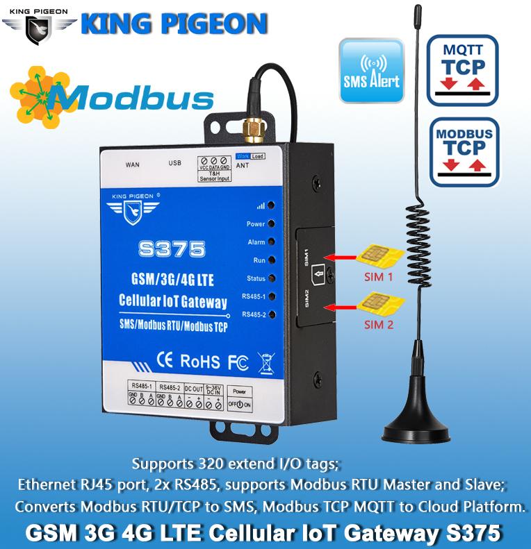 Ethernet Modbus MQTT IoT Gateway (Ethernet RJ45,1TH,USB,2 RS485)