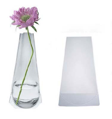 Promotional foldable PVC plastic flower vase