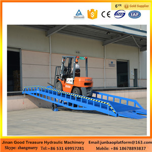 Adjustable Mobile Container 12 Ton Loading Dock Ramp/Leveler with CE