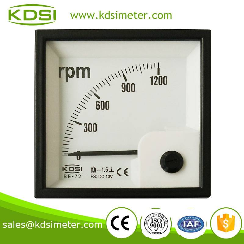 Hot Selling Good Quality  BE-72 DC10V 1200RPM voltage rpm meter