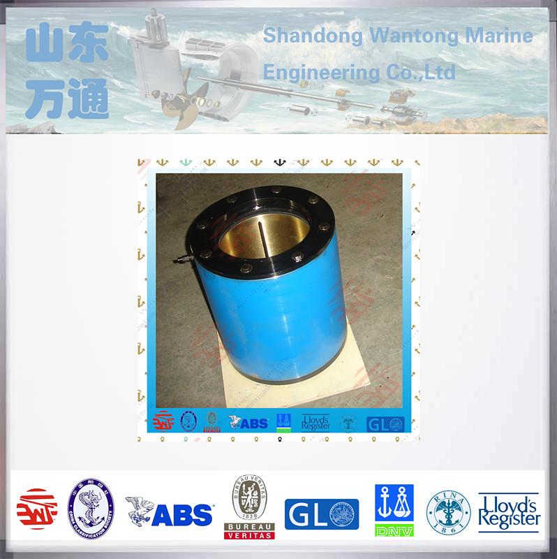 Marine lower rubber bearing for rudder fittings