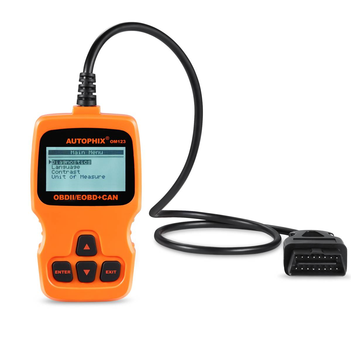 Autophix OM123 Orange OBD2 EOBD Scanner Car Diagnostic Code Reader