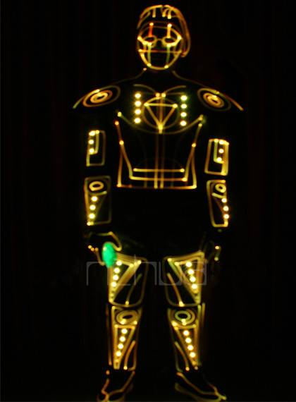 The stage Costumes LED Costumes LED light armor Holiday party show