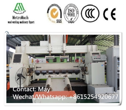 Hydraulic wood veneer 8ft spindle peeling machine
