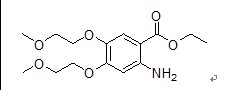 Ethyl 4,5-bis(2-methoxyethoxy)-2-aminobenzoate