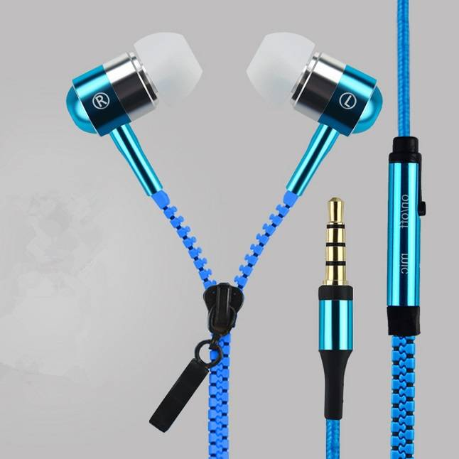 Zipper Earphone for Smart Phone