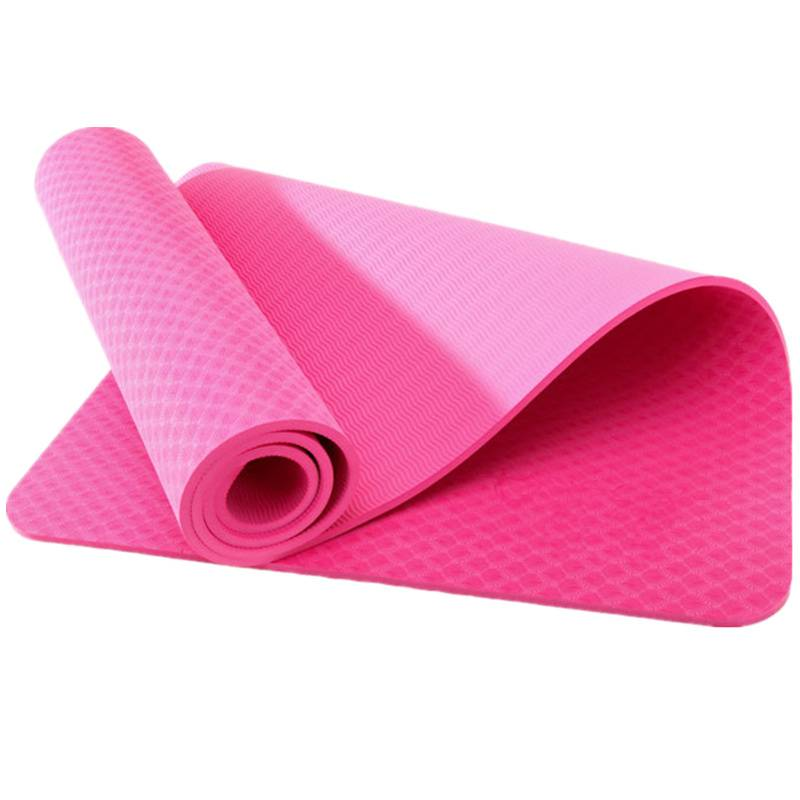 "PRINTED YOGA MAT Eco-Friendly With The Best Recyclable Non-Slip and Durable TPE 6mm or 1/4"" t"