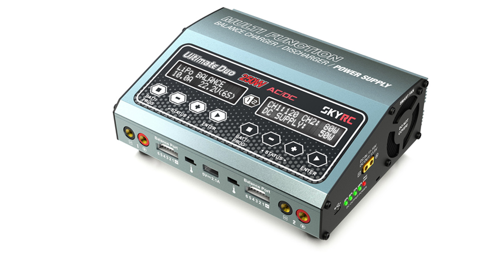 SkyRC D250 AC/DC Dual Balance Charger/Discharger/Power Supply