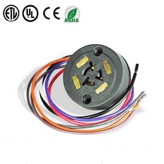 ANSI C136.41 7 Pin 4 Pad Twist-Lock Receptacle for Twist-Lock Photocontrol for LED Lighting