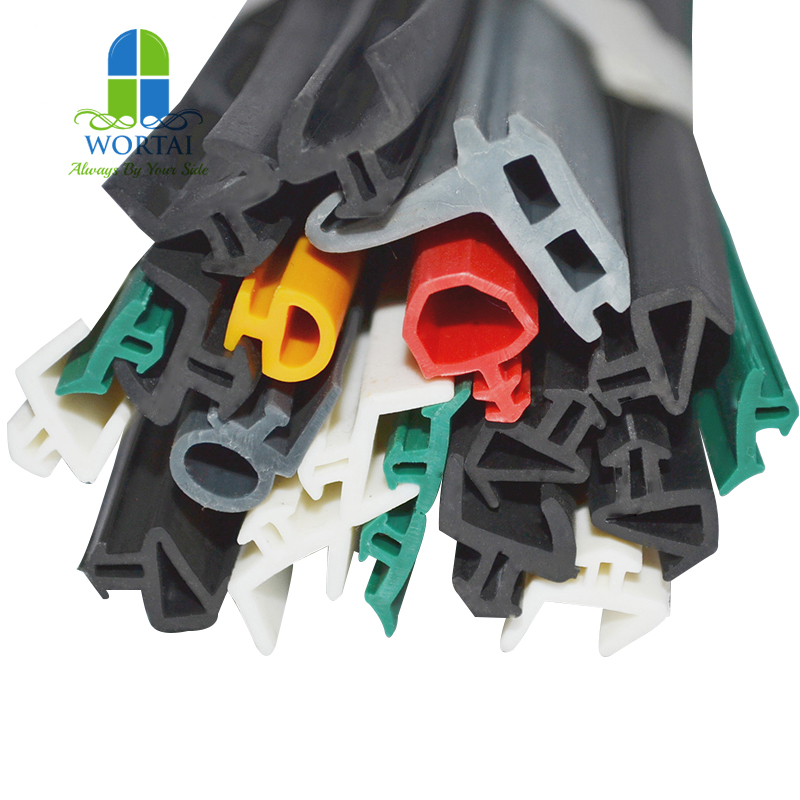 Customized EPDM extruded aluminum door and window rubber seal strip