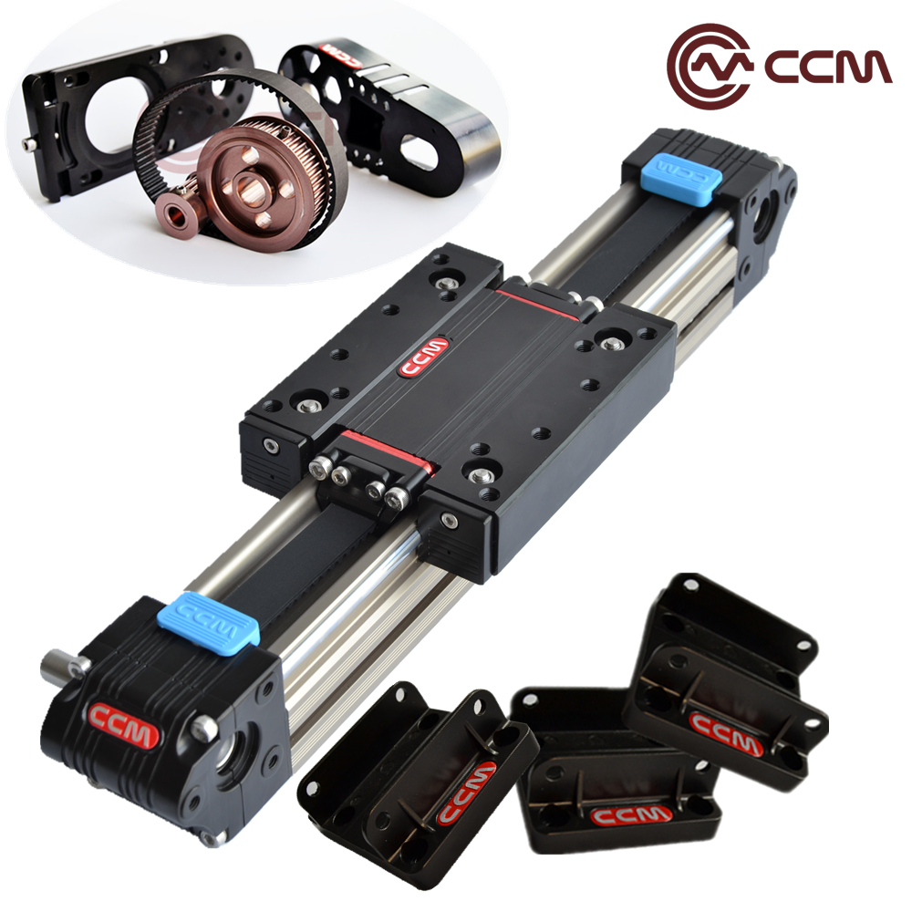 linear guide 1000mm W60-35 belt drive stage CNC actuator with CCM speed reducer