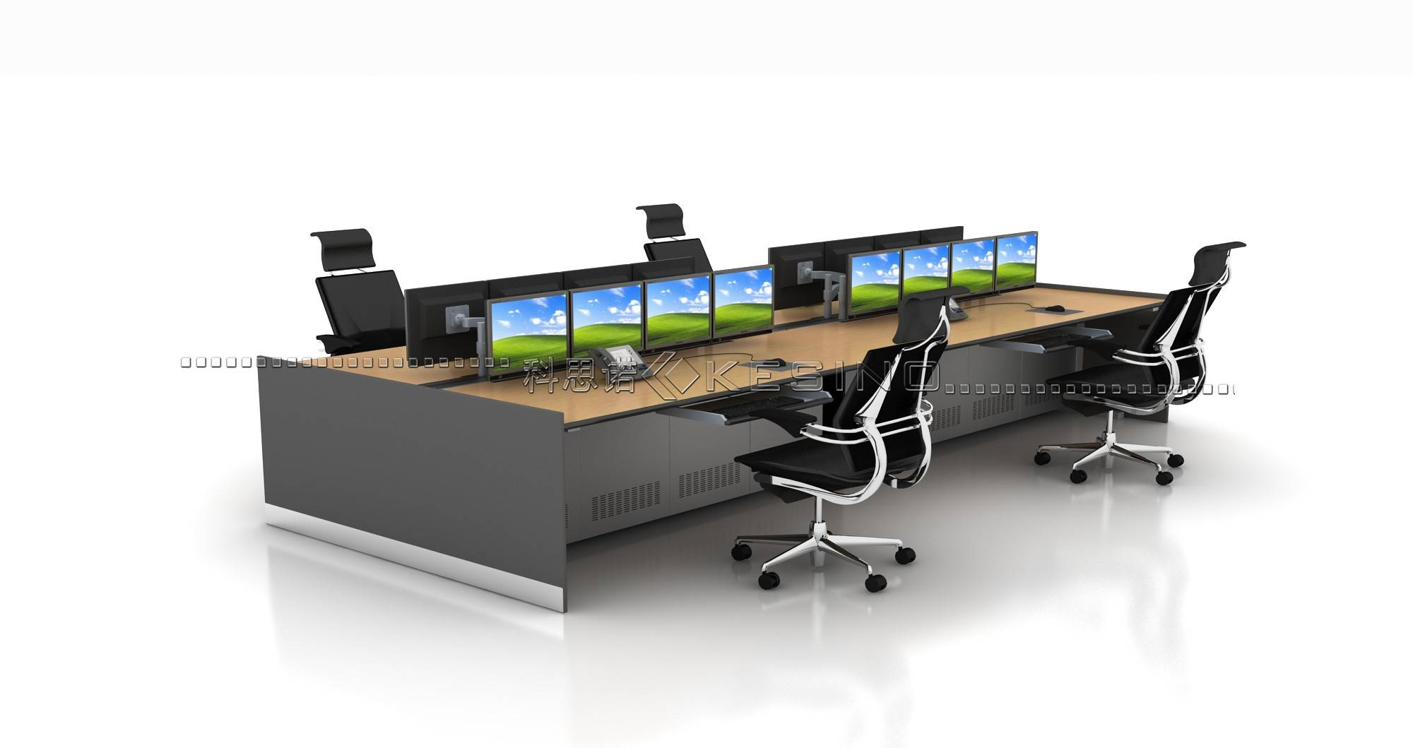 commercial furniture office control room ergonomics