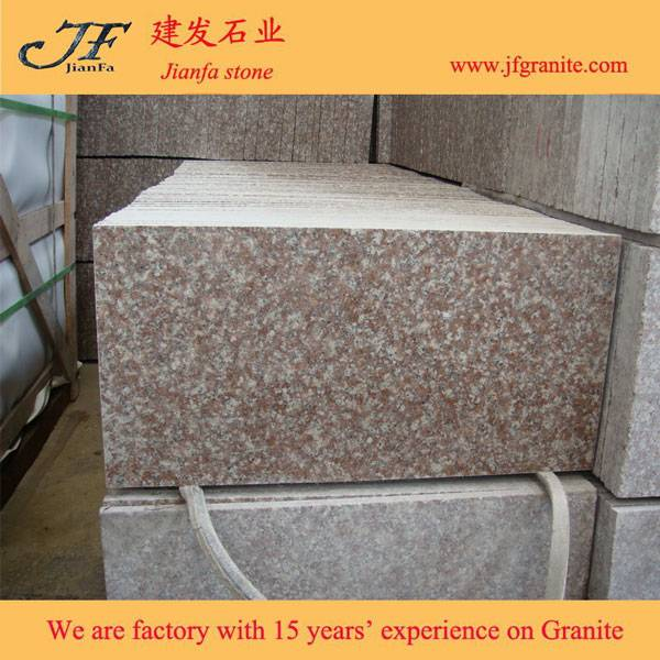 China Peach Blossom Red G687 Granite Tile For Sale