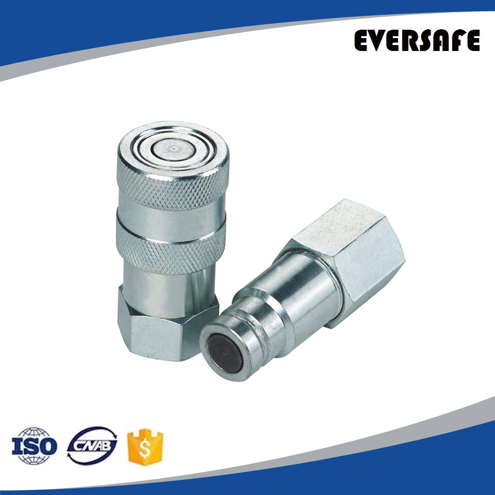 Flat Face Hydraulic Quick Connect Coupler / Coupling & Plug,