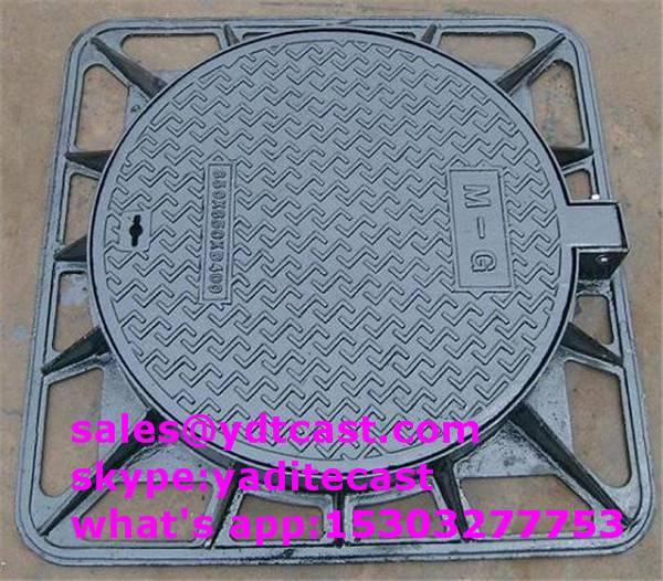 cast iron manhole cover dia 600 mm C250 D400 in way
