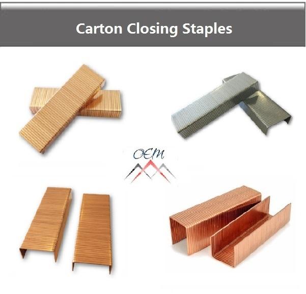 Carton closing staples