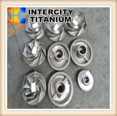 china titanium lost wax casting for titanium pump ,titanium Impeller