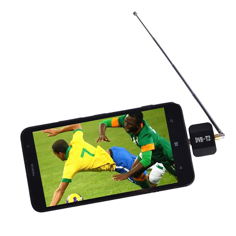 DVB-T2 Dongle mobile TV receiver supports Android system