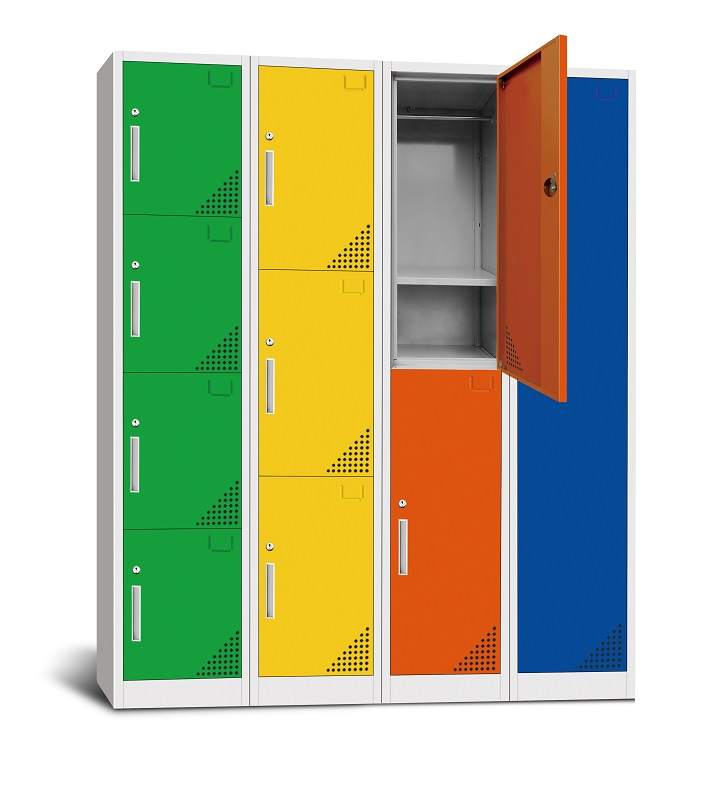 Colorful 6 doors school cabinet for storage