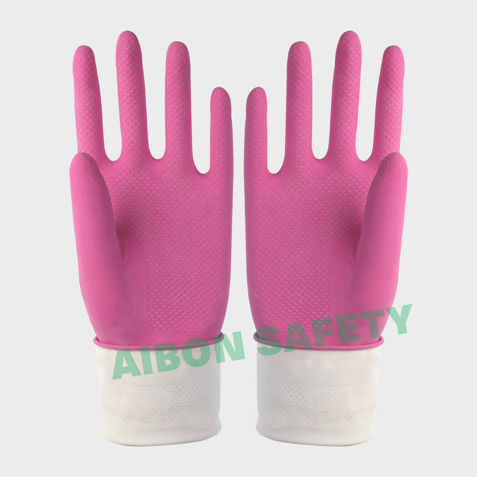 cotton flocklined household rubber glove