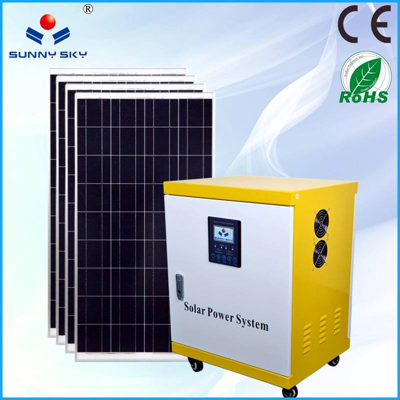 2KWsolar power generator with mppt solar controller inverter