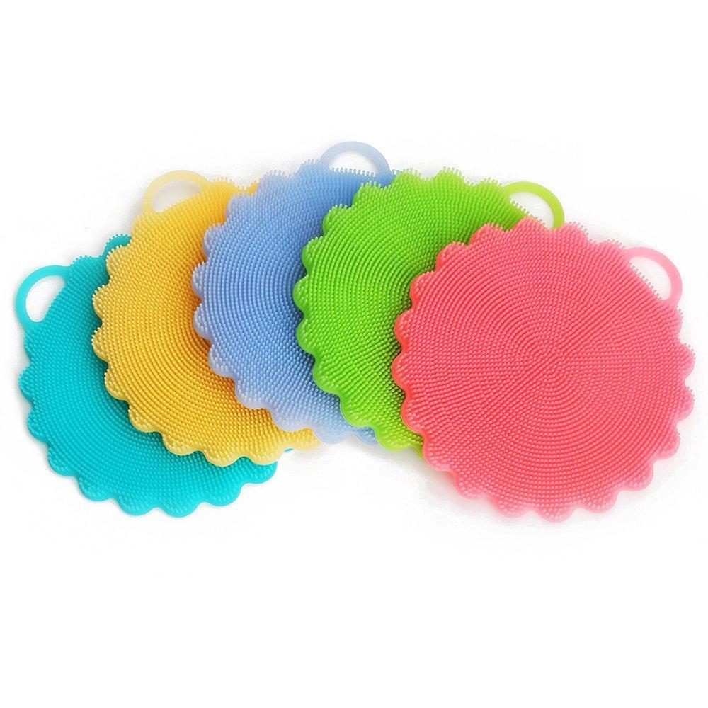 Food-grade Antibacterial Silicone Non Stick Dishwashing Brush Dish Towel Scrubber