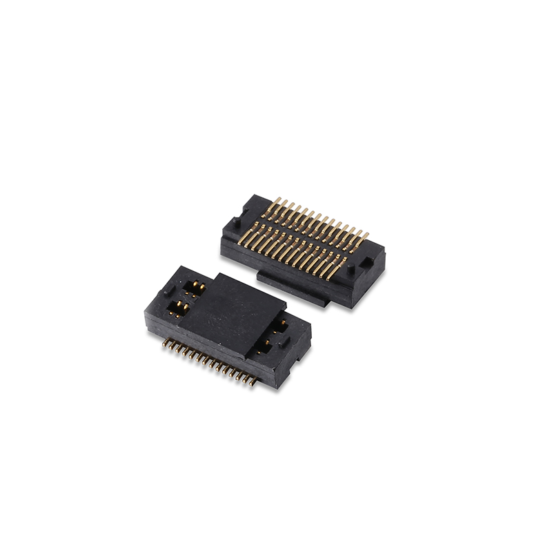 0.5mm pitch board to board connector,female,double slot pcb connector