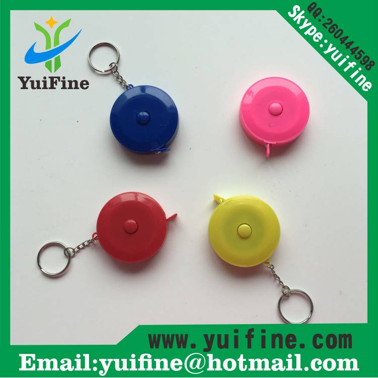 Round Shaped Measuring Tape 1.5m/60inch with Keychain sewing Meters Cute Retractable tape measures