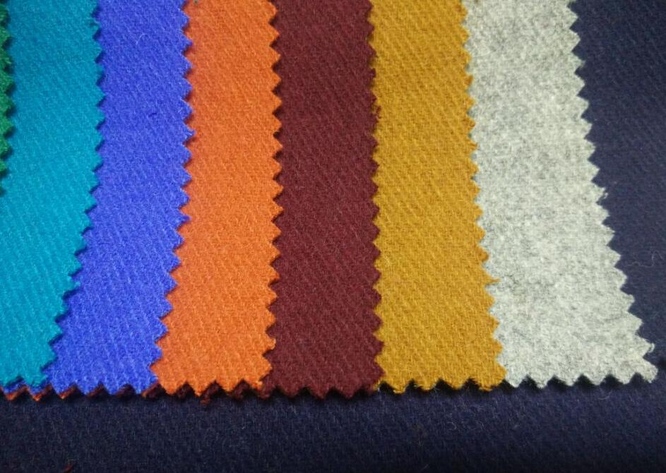 Classical style woven twill woollen fabric 50%wool