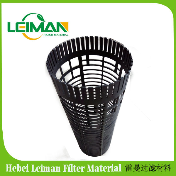 Auto filter plastic skeleton