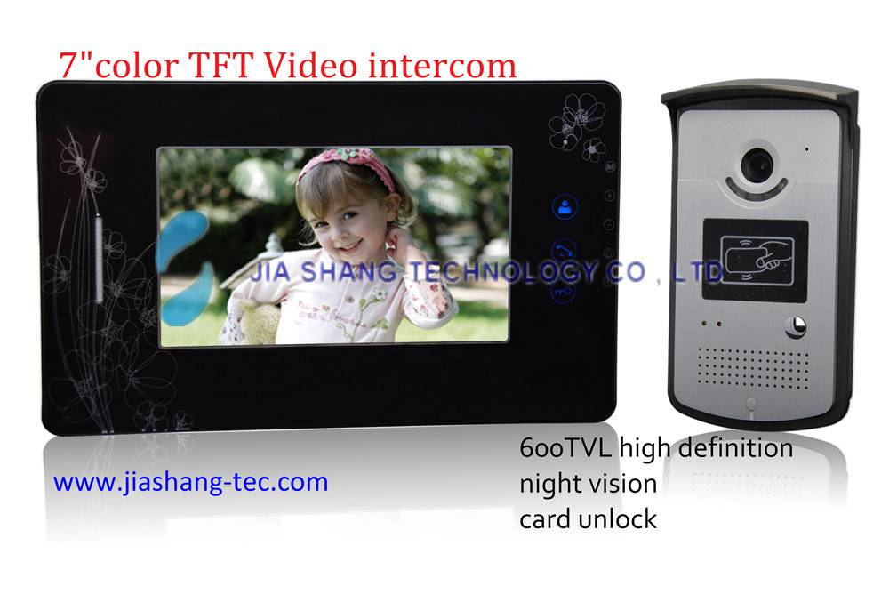 7 inch color video door phone,SD card memory