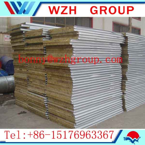 Fireproofing rockwool sandwich panels made in China