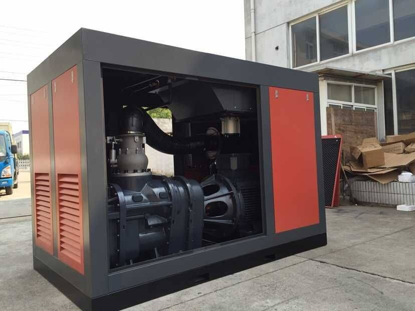 280kw Industrial Air Two Stage Screw Compressor Energy Saving
