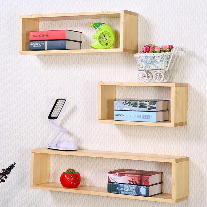 Economical wooden 3 cube shelf CS002