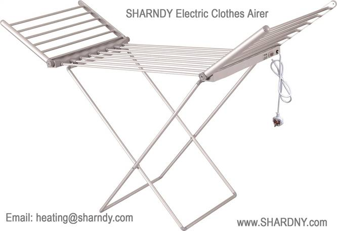 SHARNDY Professional Manufacturer Supplier Winged Electric Heated Clothes Drying Rack
