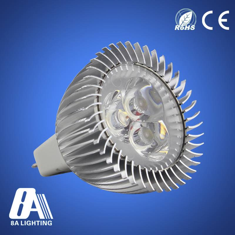 High Lumen MR16 3w Cool Warm White LED Spot Light Bulb Lamp CQC