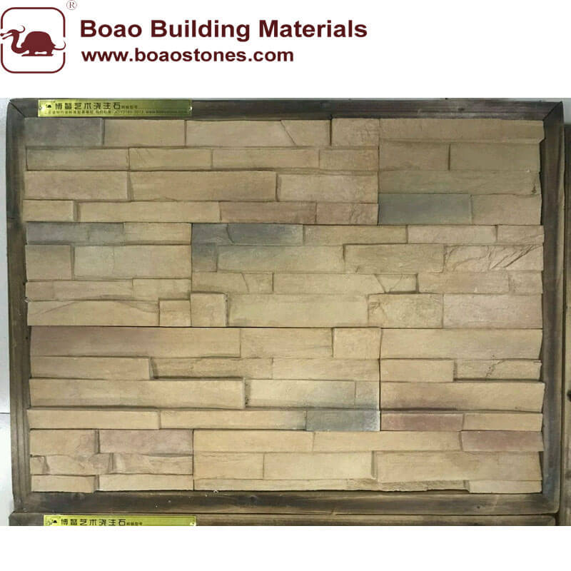 New design artificial stacked stone veneer panel